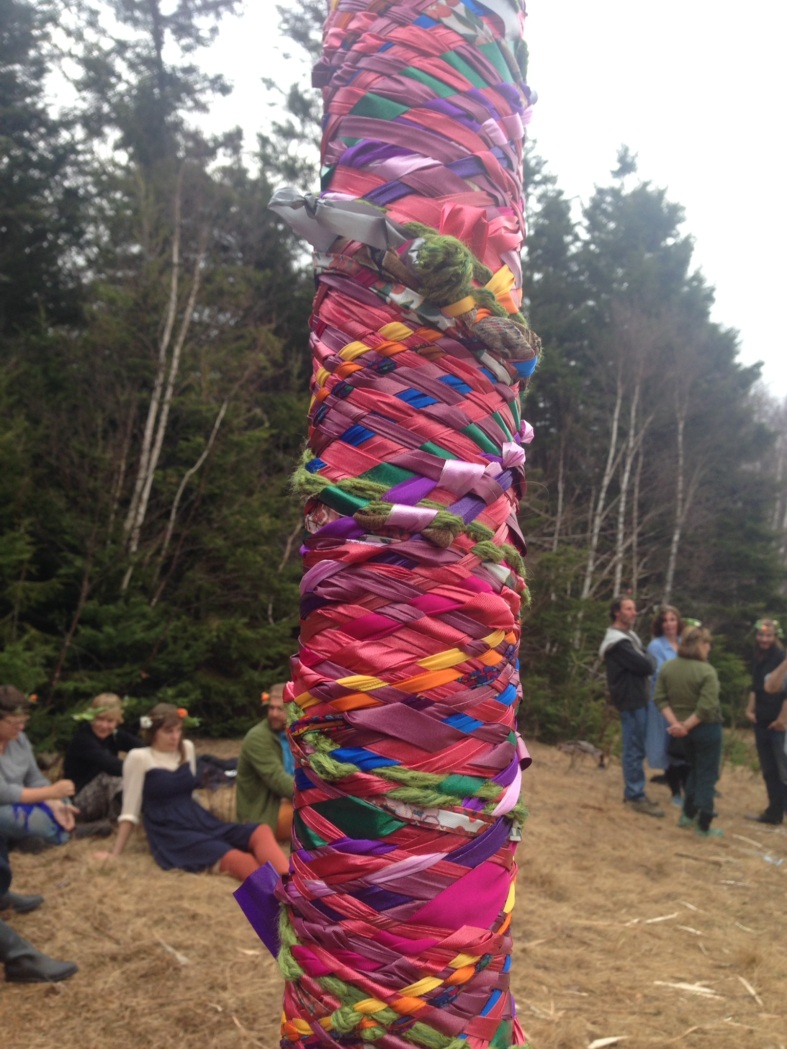 The MayPole..... complete. (tired dancers included)