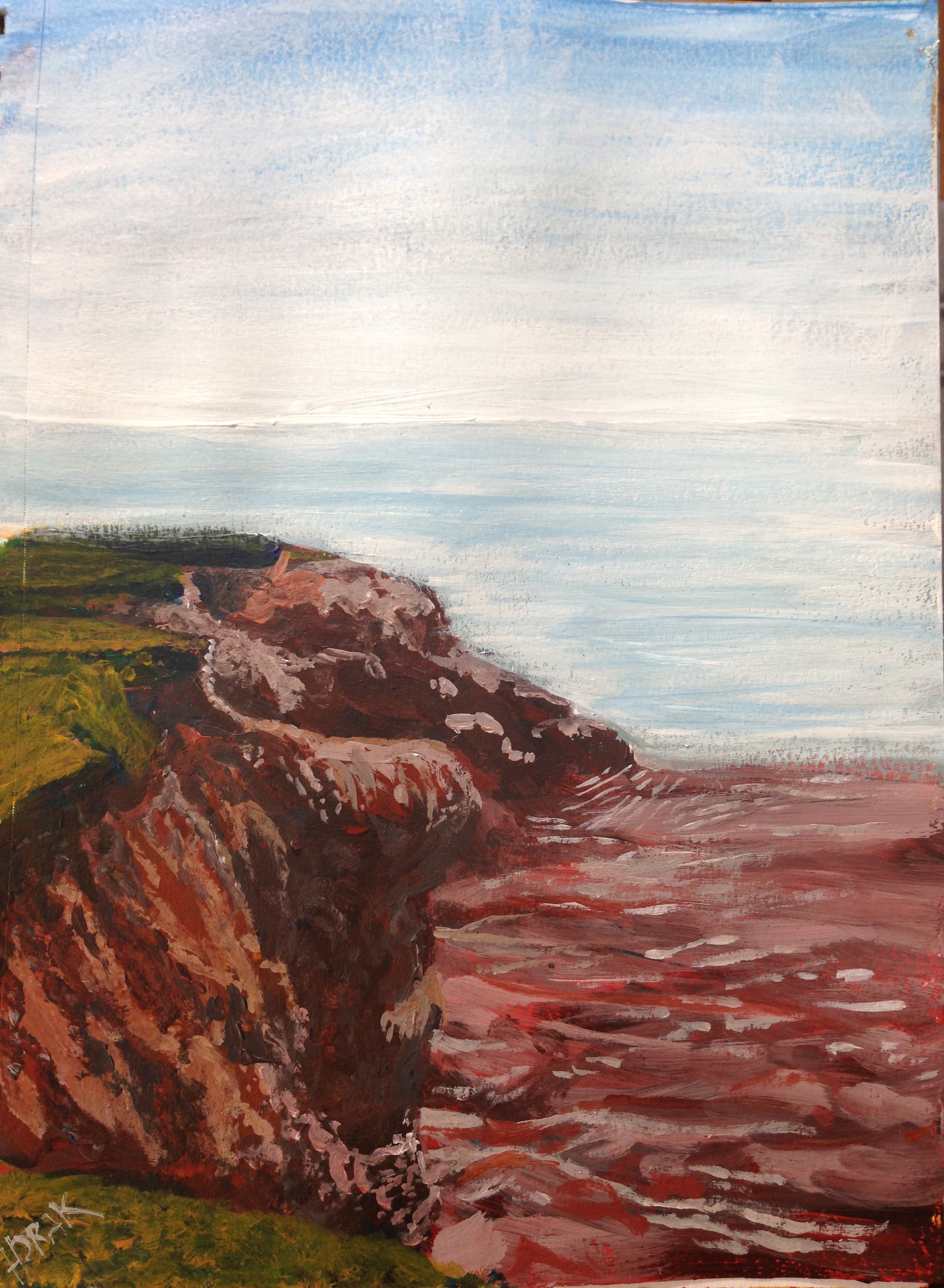 The Red Cliffs at Canoe Cove