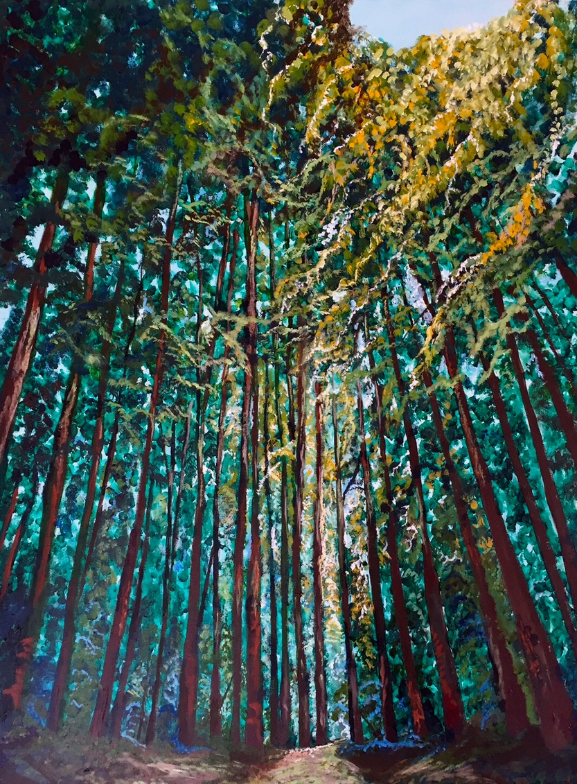 "The West Coast, Acrylic on Canvass, 30""40"""