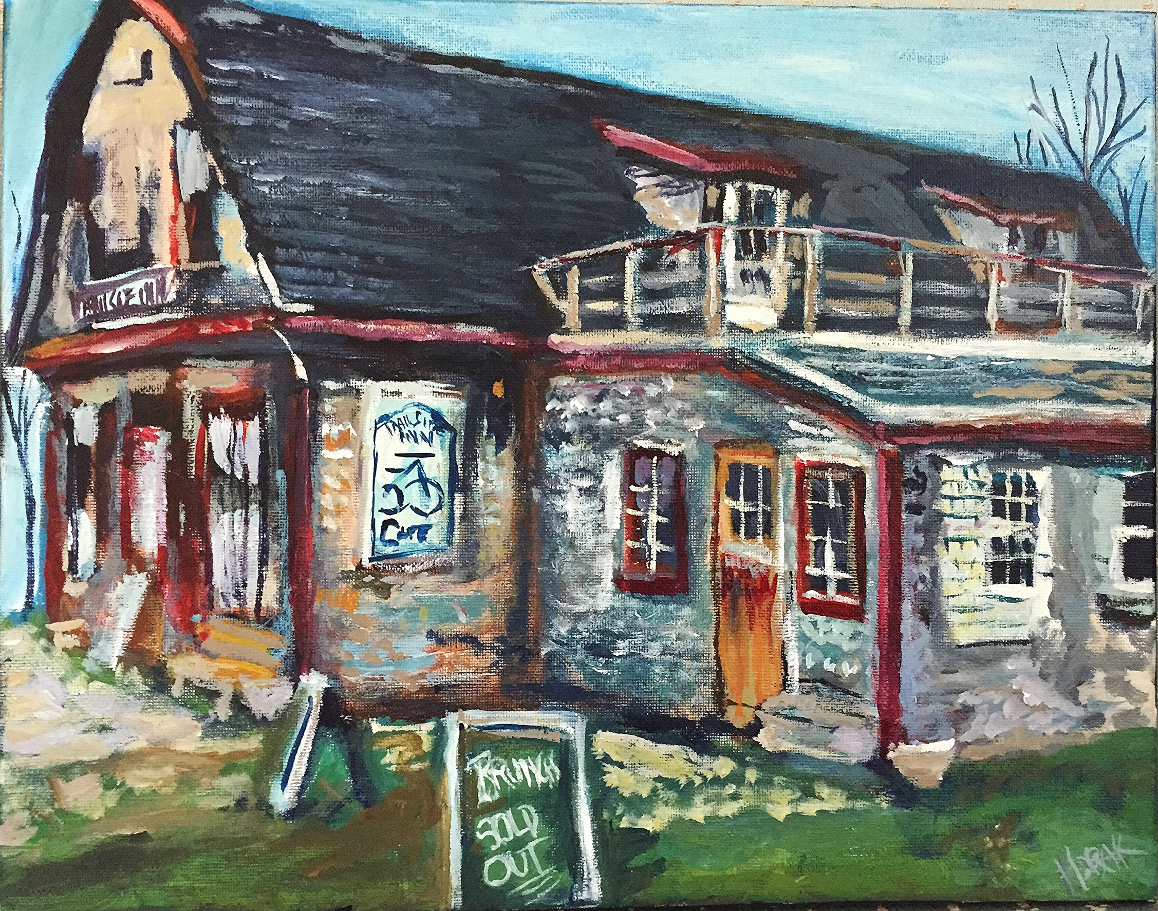 Mother's Day Brunch.  The Trailside Inn, P.E.I.  Acrylic on Canvass.