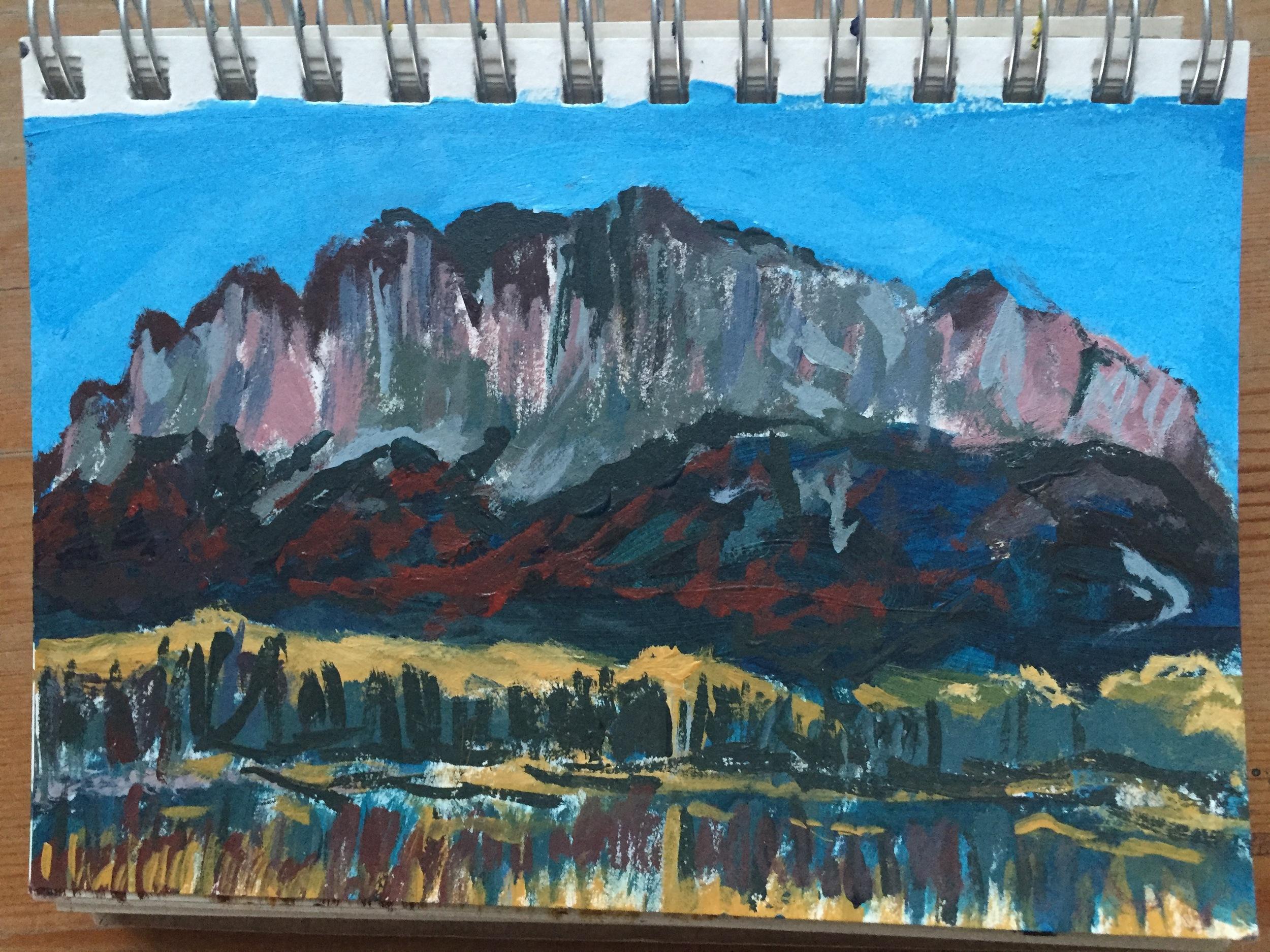 Mr. Yamnuska Sketch. Climb every mountain?