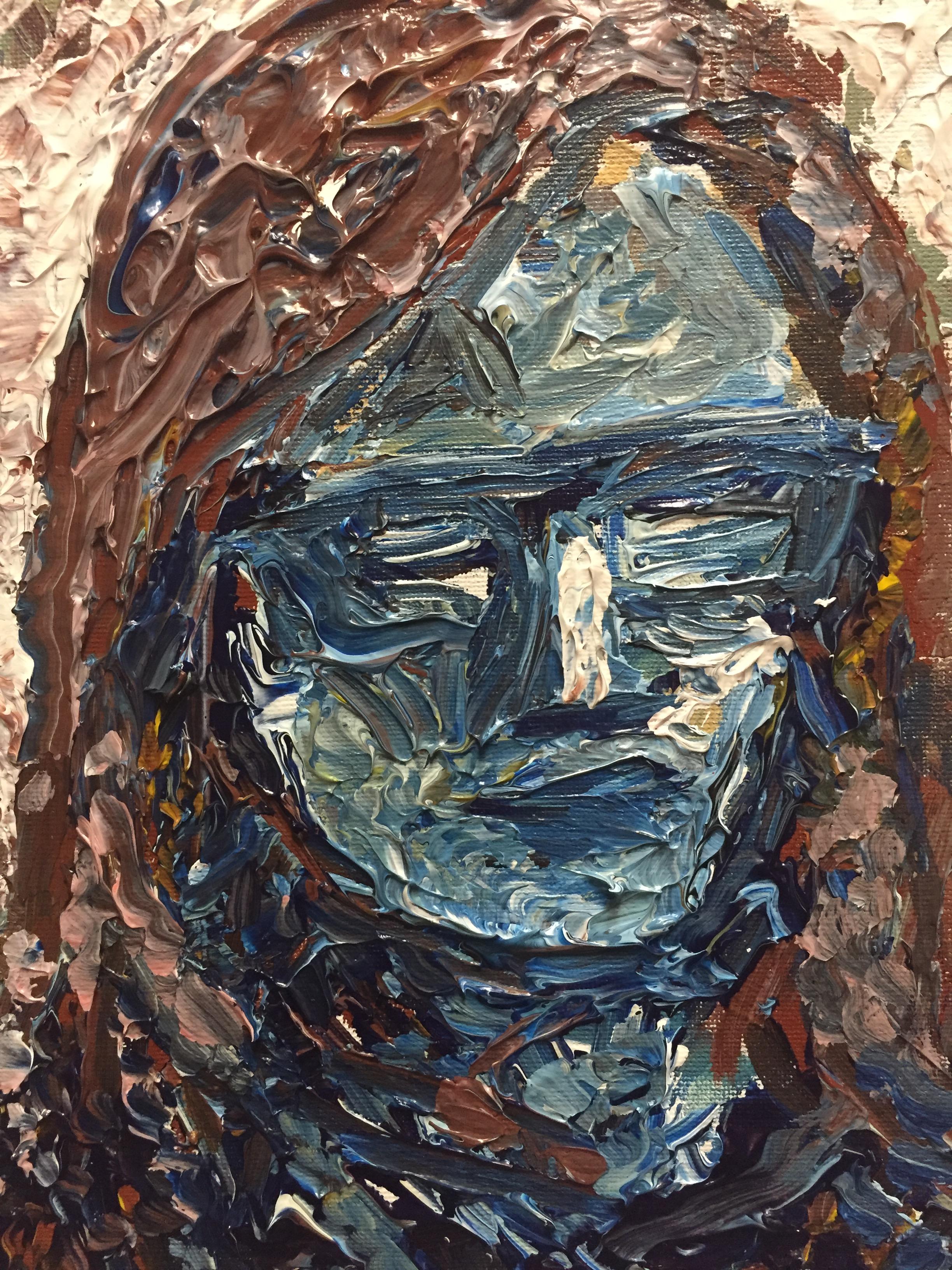 Sara Peel, Acrylic and Heavy Gel on Canvass