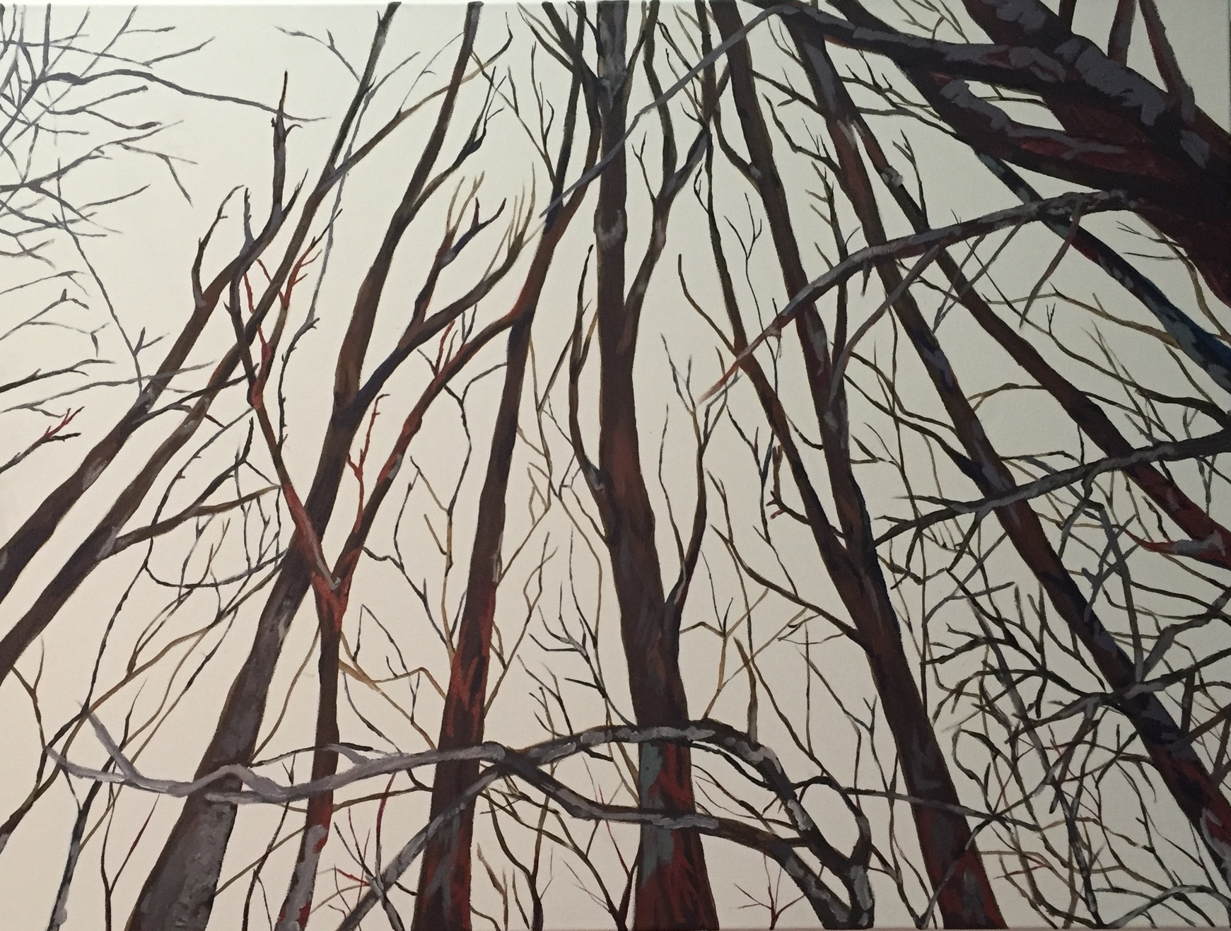 A celebration of Loneliness - Acrylic on Canvass.  2.5'x3.3' SOLD