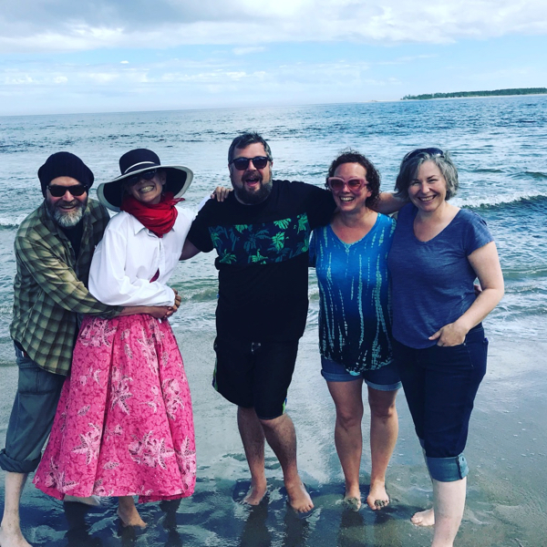 Birthday on the beach with Dirk, Onalea, Andrew, Linda and Julia