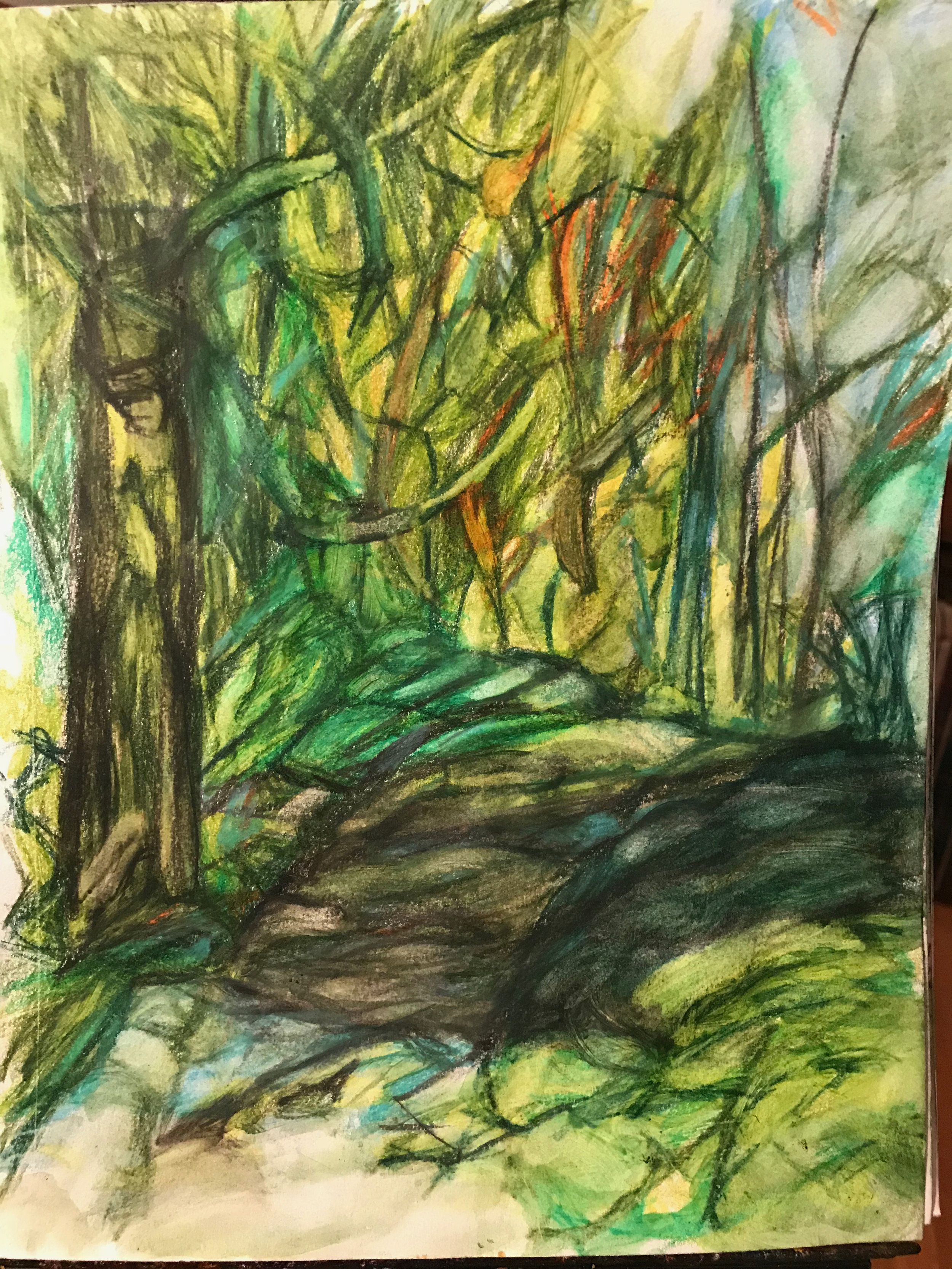 Watercolour on Paper. Trees