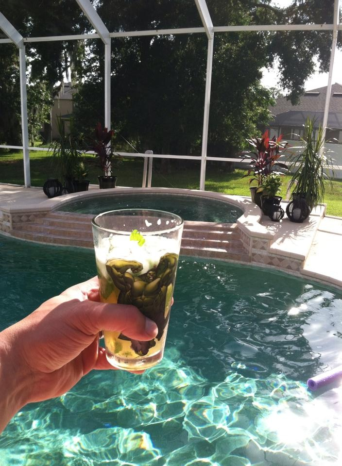 Hulk Mojito By The Pool