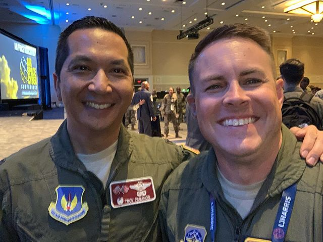 One of the few wings commanders that I can physically see eye to eye with! Great to see you Troy!
