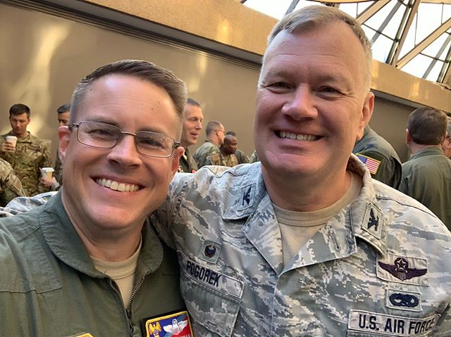 Team Pease and Team Scott in the house at the Wing Commander's Conference. Great to see so many great leaders this past week. @157arw @teamscottafb #NHANG #375AMW #TotalForceWarriors