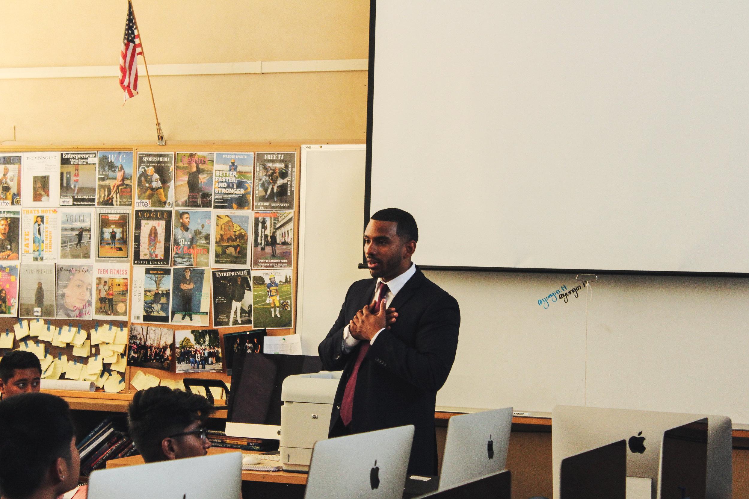 Dr. Derrell Blackburn, Entrepreneur & Educator (Photo credit: OSCAR REYES)