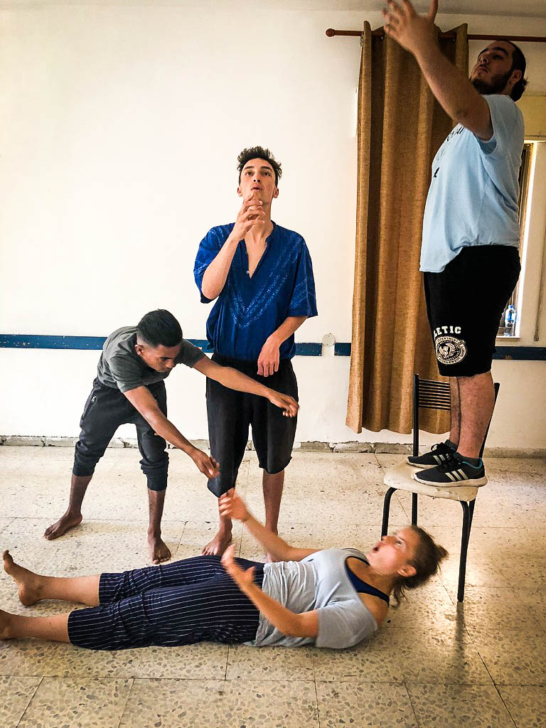 Theatre workshop with the ASHTAR International Youth Theatre Festival