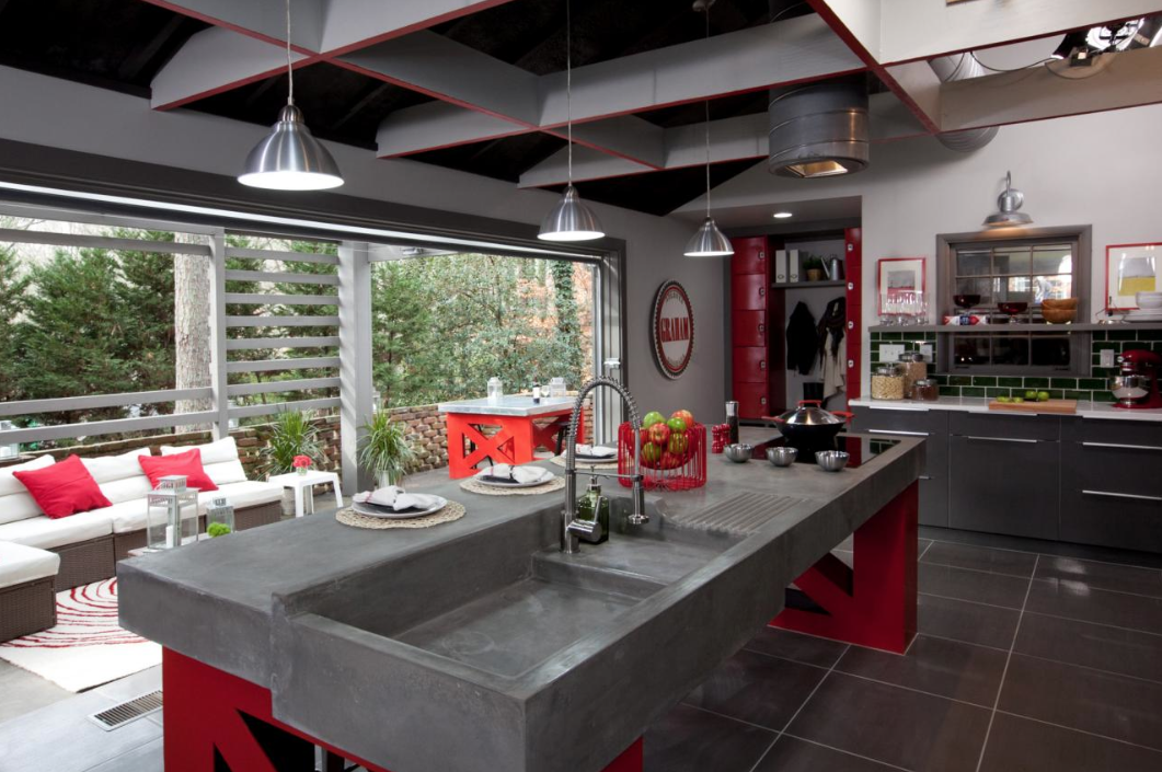 Modern Industrial Kitchen, HGTV's Elbow Room Season 2