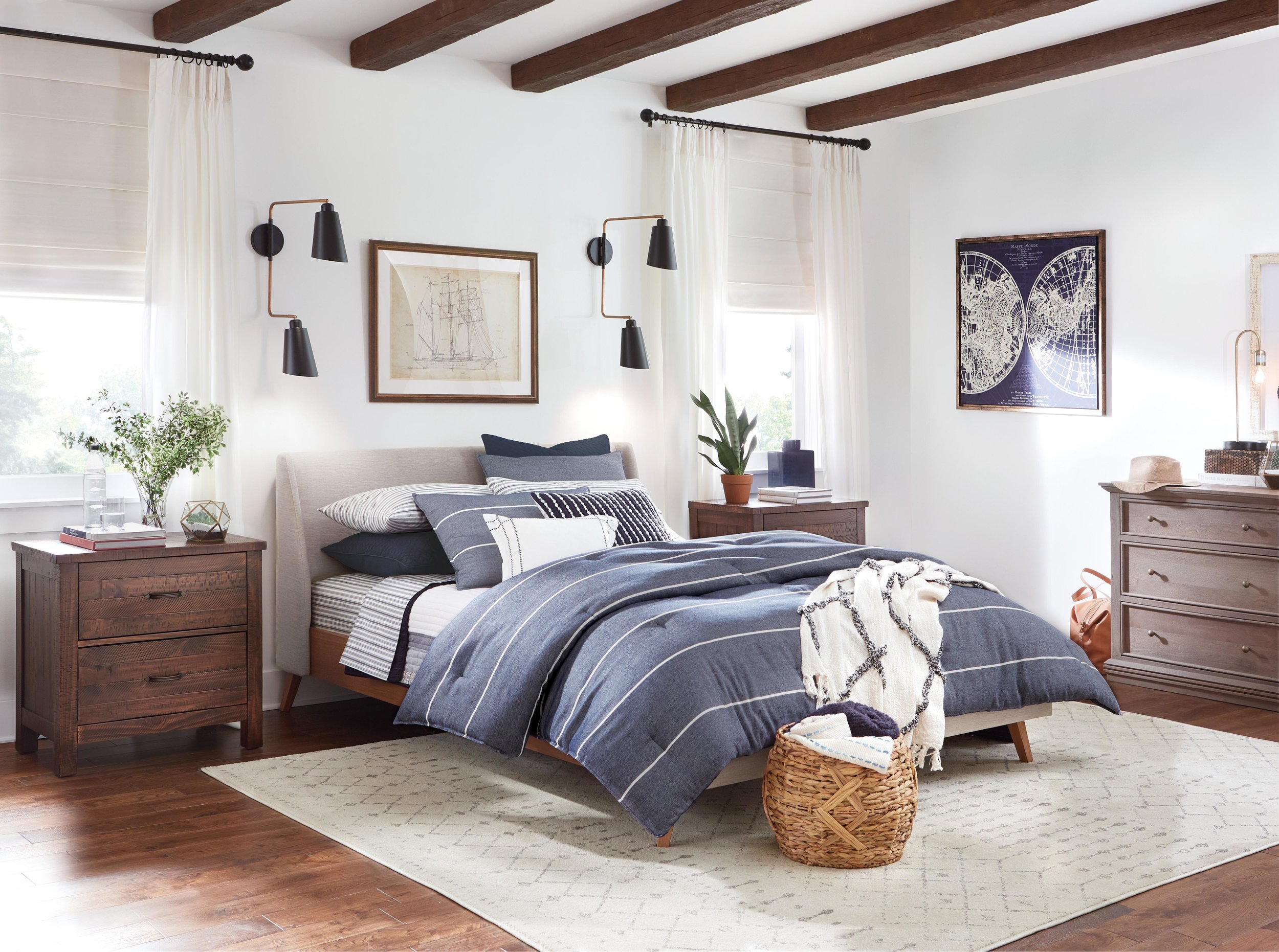 Coastal Modern Bedroom for THD