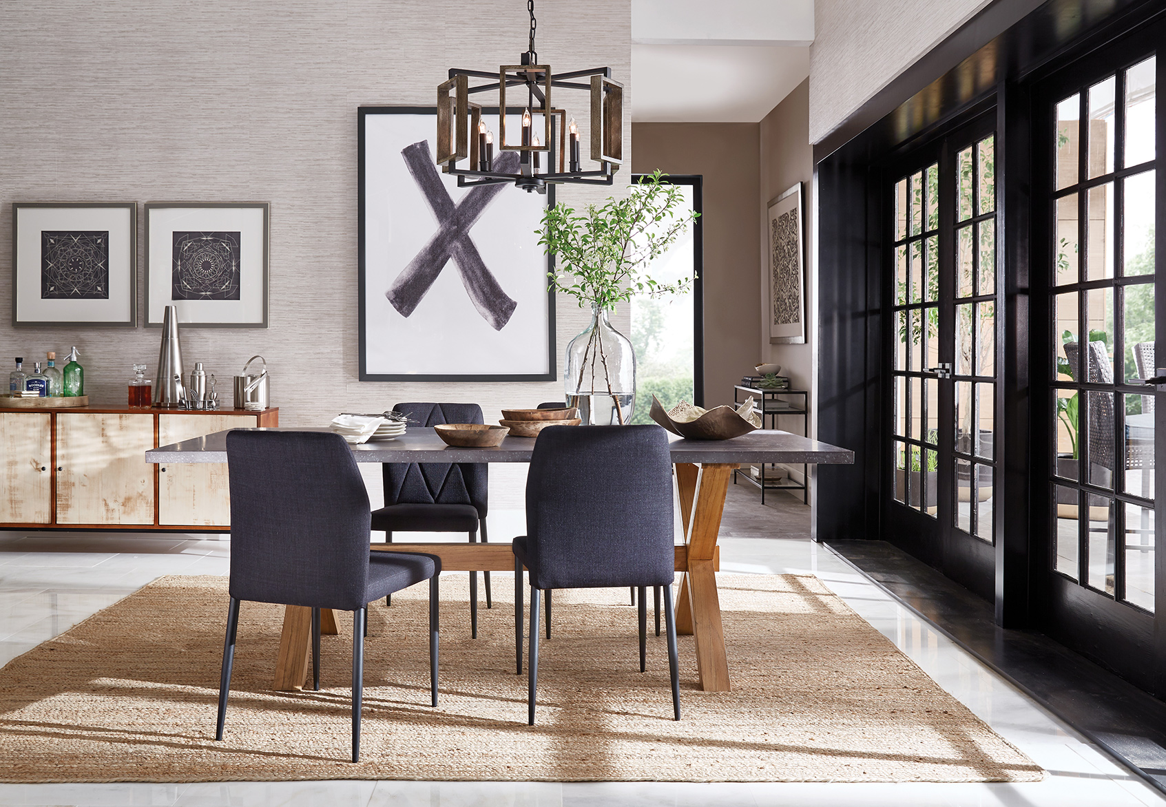Neutral Modern Dining Room for THD