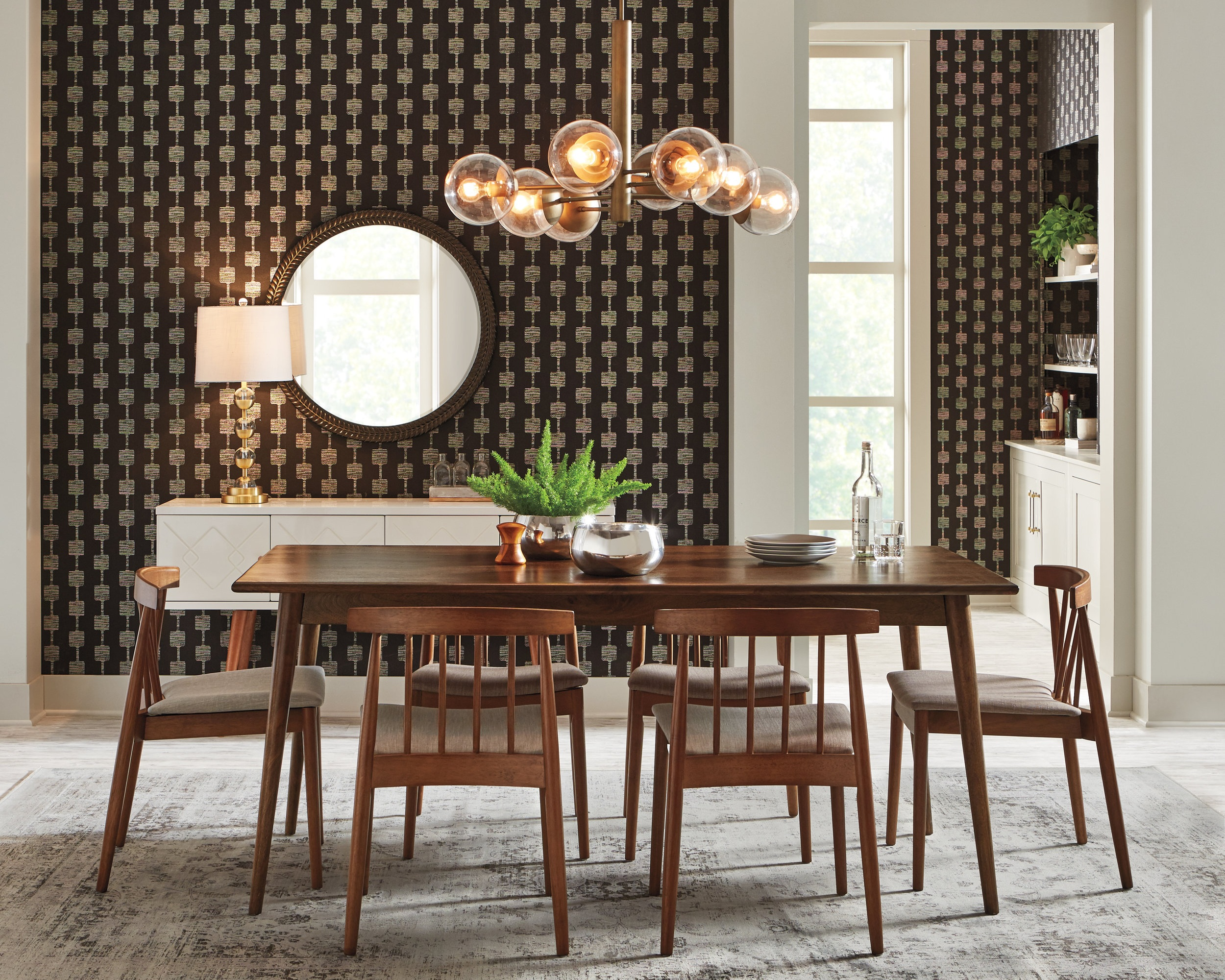Mid Century Modern Dining for THD