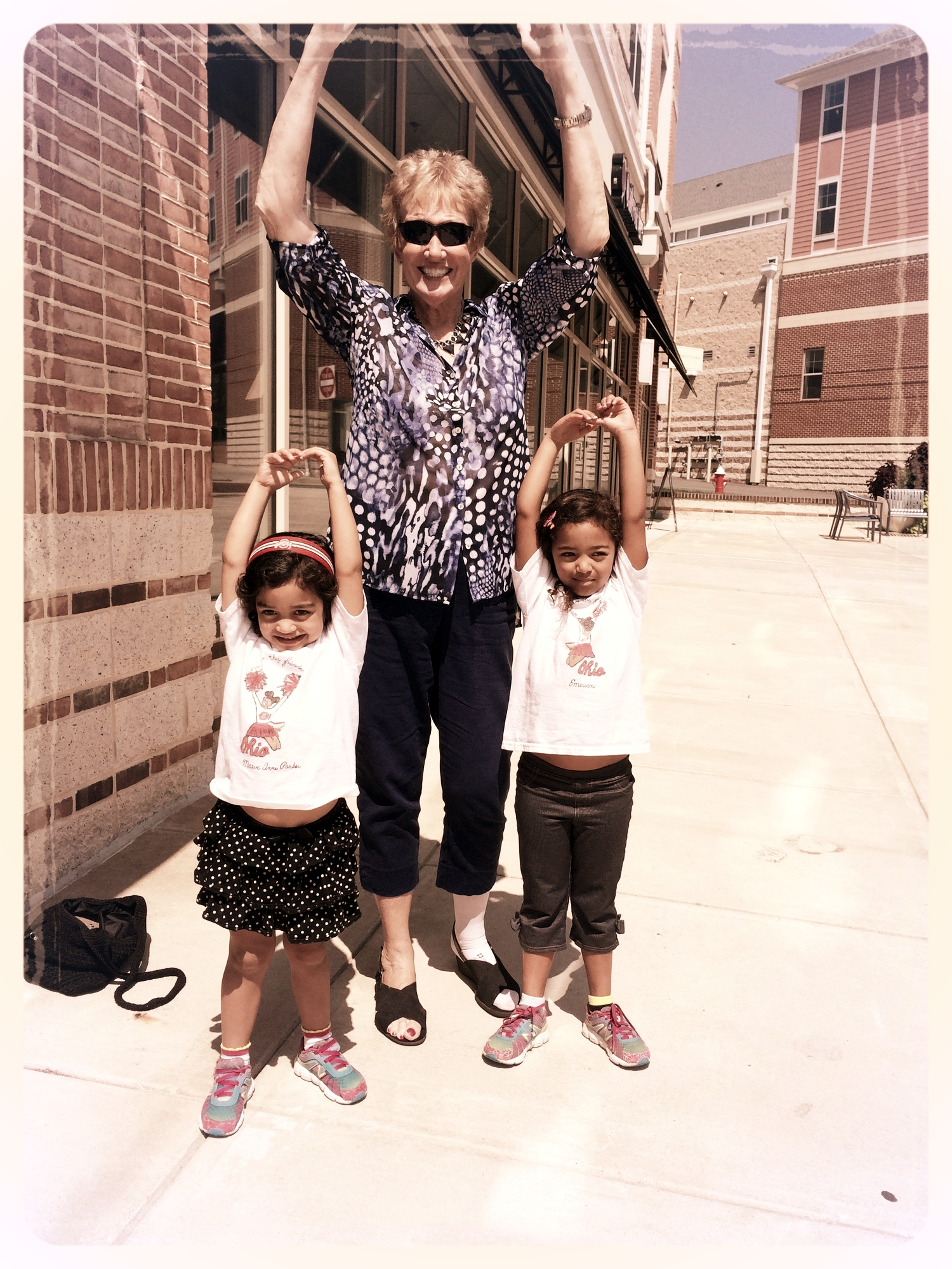 Jane Fawcett-Hoover had a blast sharing her Buckeye memories with my daughters.