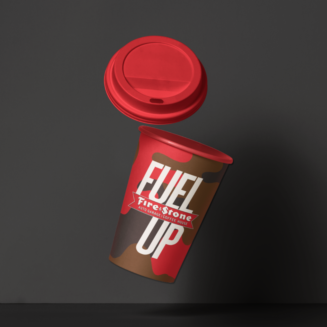 Coffee cup design.