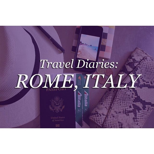 Flashing back to days of 🍕 , 🍝, 🍷 and 🍦. Check out our travel diary from Rome 🇮🇹. Link in profile.  #dualcitizen #travel #flashbackfriday #fbf #pizza #gelato #wine #fridays #pasta #italy #europe #blog #boutique #handbags #world #handcrafted #limitededition