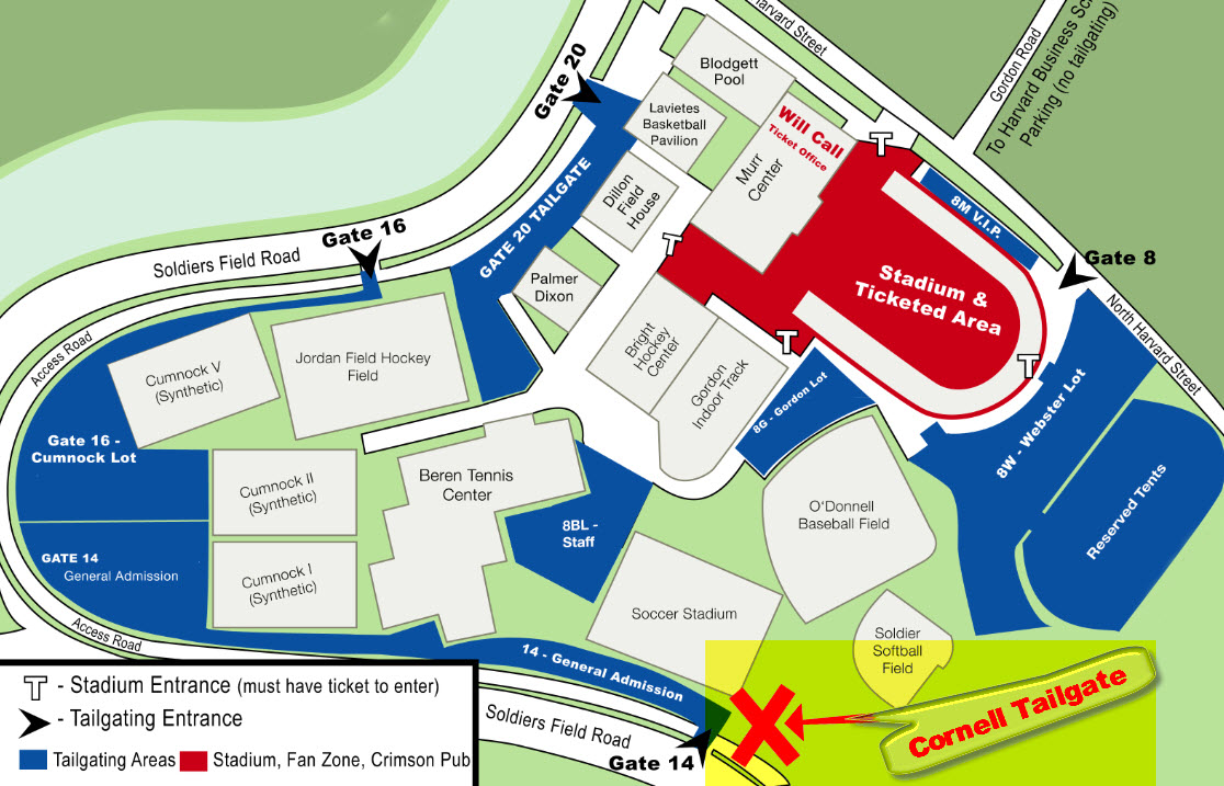 Our tailgate tent and food will be to the right of the Gate 14 entrance.