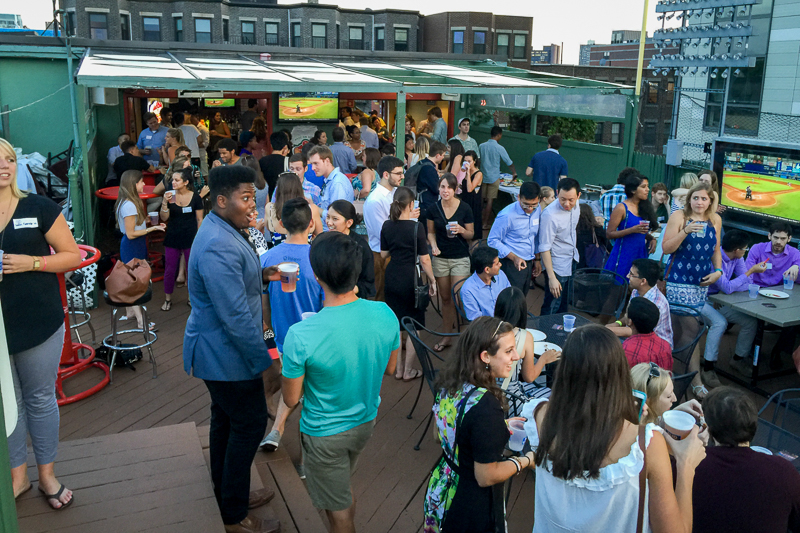 Photo from a recent Young Alumni Rooftop Social