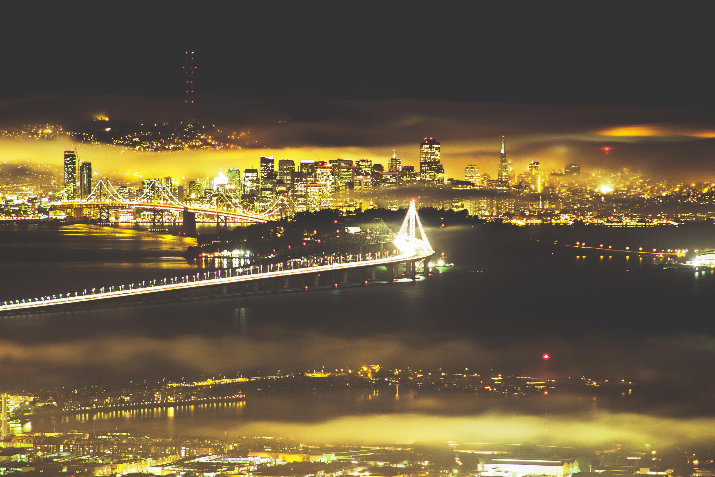 Bay Bridge/SF Skyline shot from Berkeley, CA