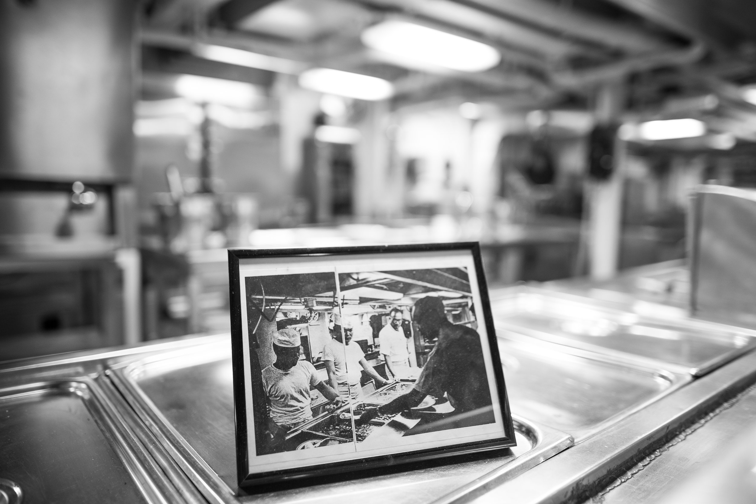 Not sure how old this photo of sailors in the kitchen was but this was the same place it was taken in (it's hard to tell because of the blur, forgive me please).