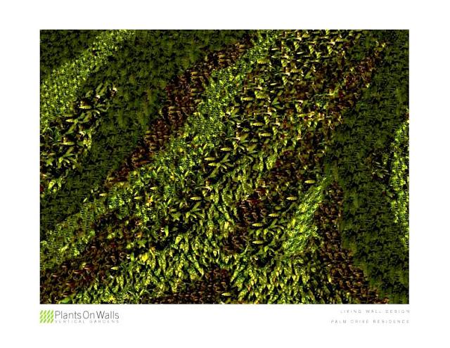 Computer Rendered Vertical Garden Design by Chris Bribach, Plants On Walls, Florafelt System