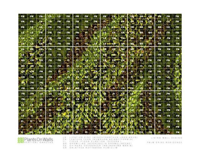 Grid Overlay, Vertical Garden Design by Chris Bribach, Plants On Walls, Florafelt System
