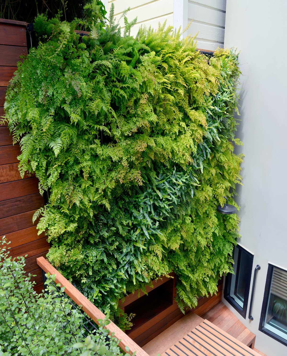 Florafelt Pro System Vertical Garden by Tim O'Shea for a San Francisco Residence.