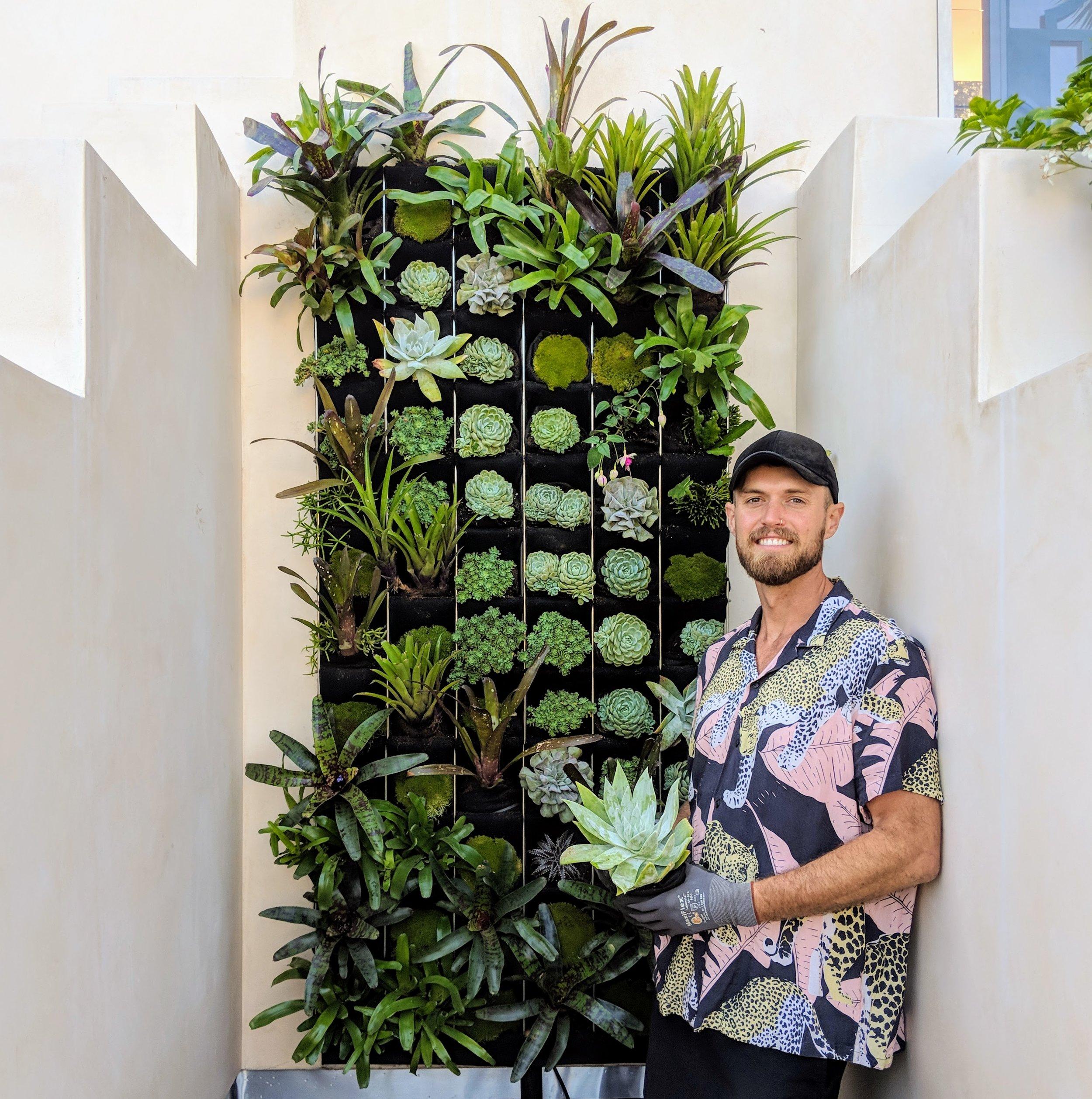 Florafelt Pro System Installation by Lindsey Graves of Living Green Design San Francisco