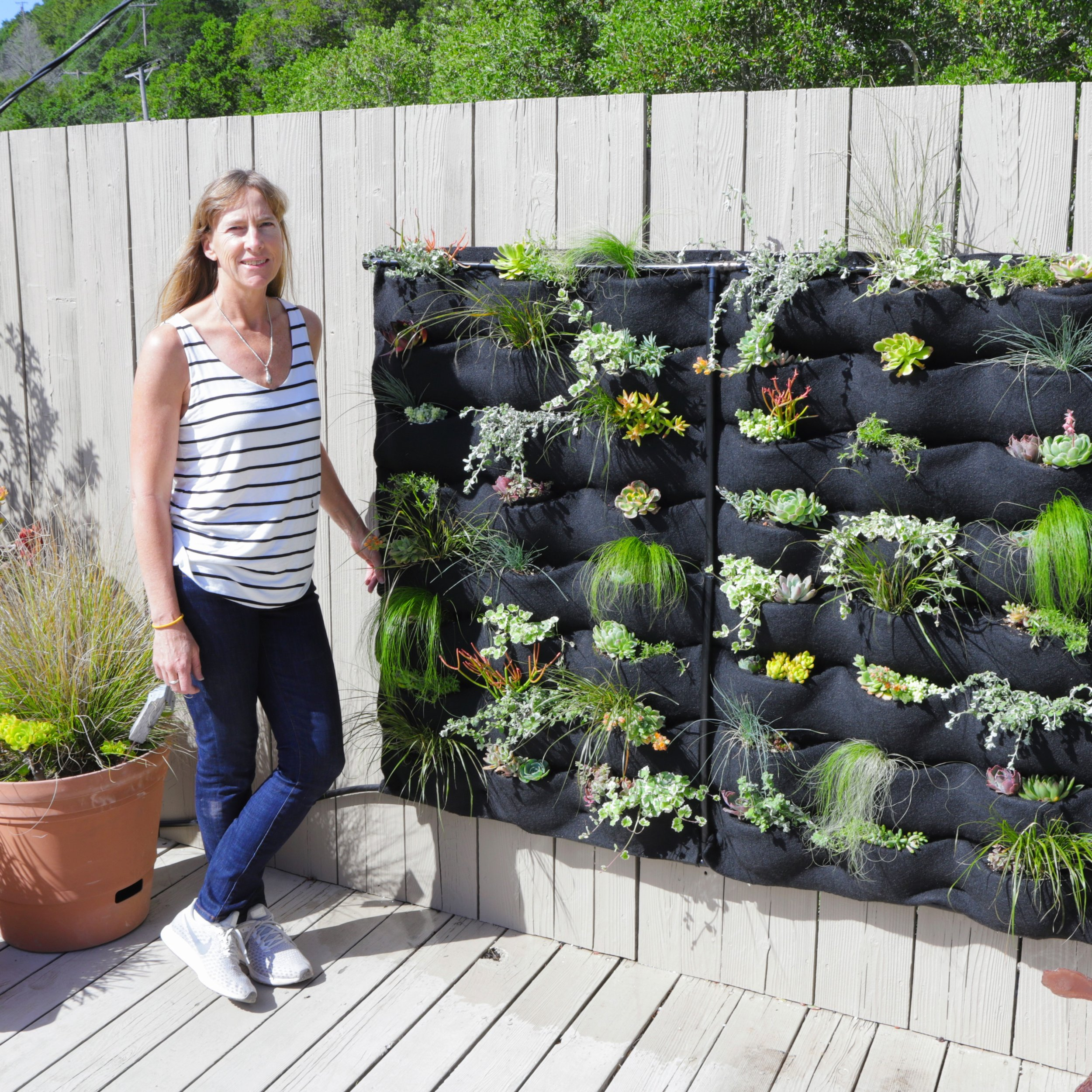 Christine of Planted Places created this Florafelt living wall for their clients home in just an afternoon.