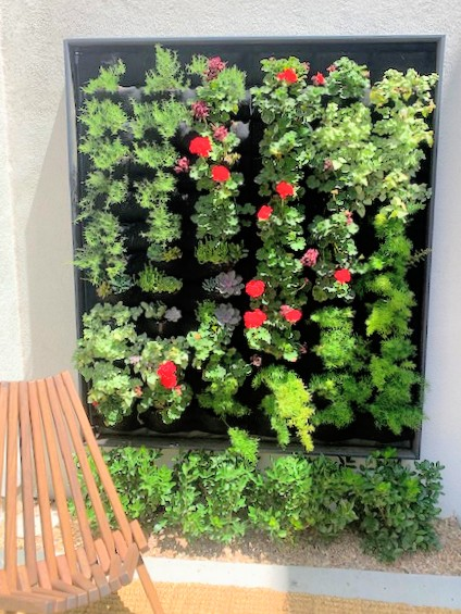 Florafelt living wall by Ph Balanced and LandWorks for The Lucy Las Vegas.
