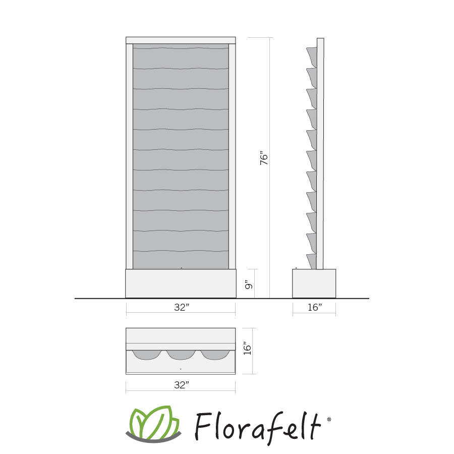 Florafelt Recirc 33-Pocket Free-Standing Self-Watering Living Wall System 3.png