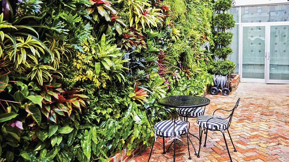 Florafelt Living Wall by Truvine Design for Chrome Hearts Miami.