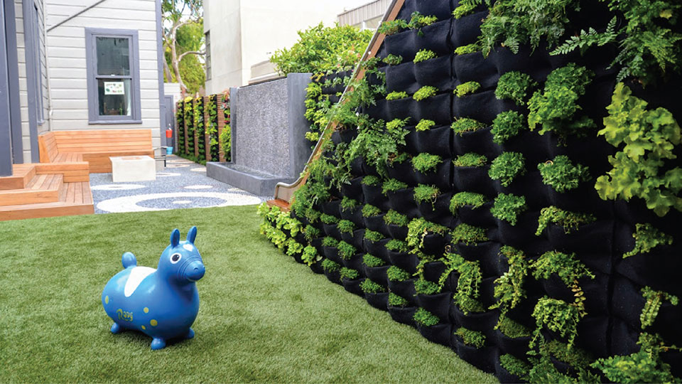 Florafelt Living Wall by Monica Viarengo and Goodscapes San Francisco.