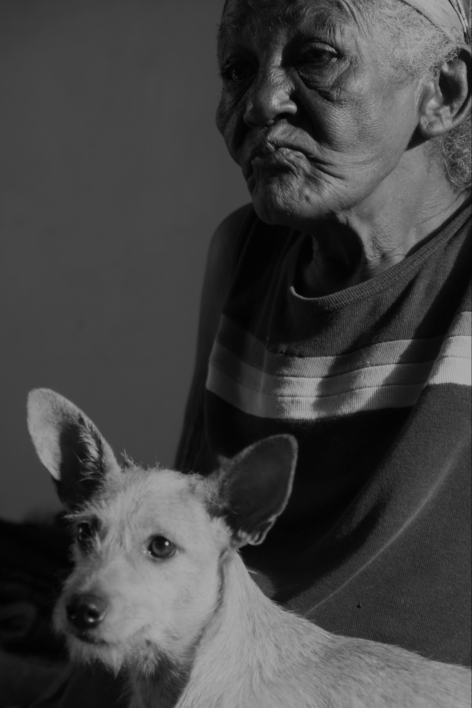 Mayito's mom and her dog
