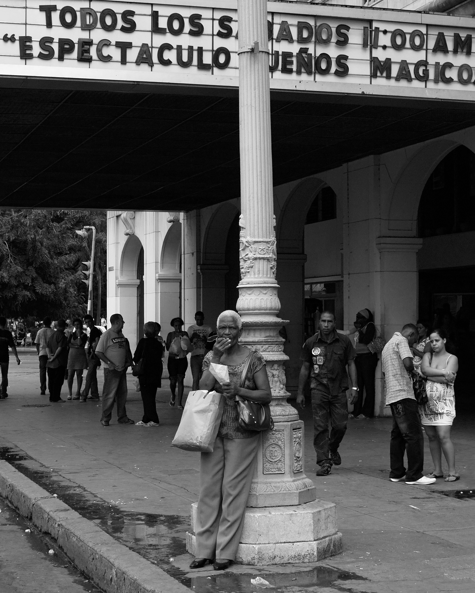 Peanuts seller out of Payret movie theater. Havana, Cuba 2010