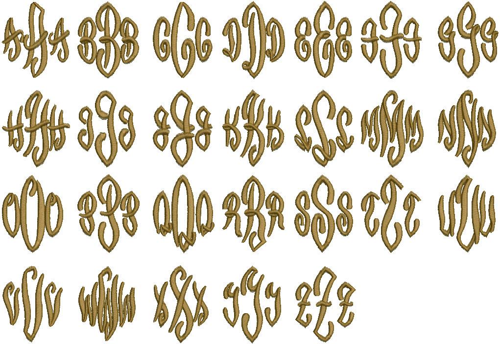 Diamond Script (Initials Only)