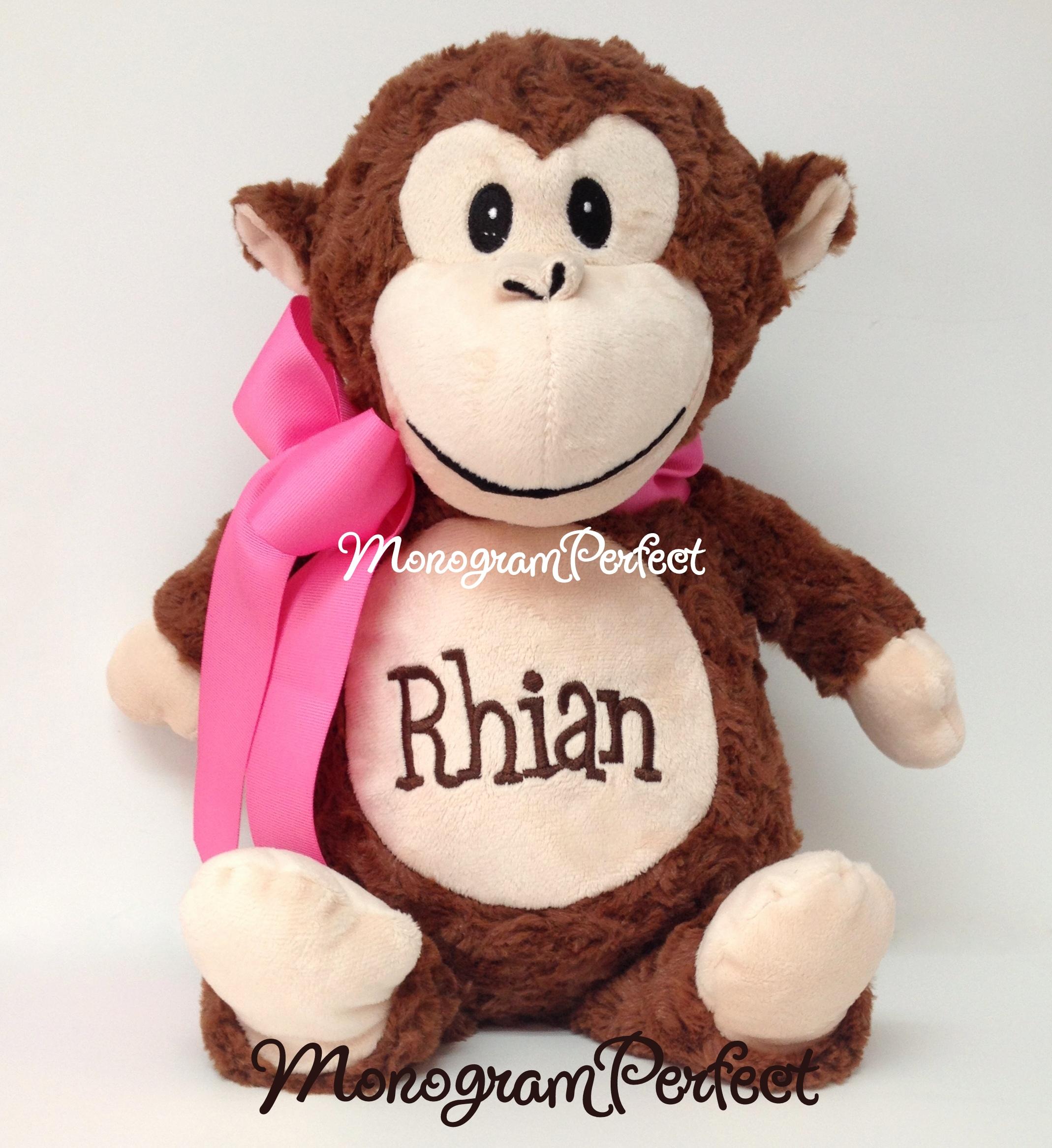 Personalized Monkey Stuffed Animal