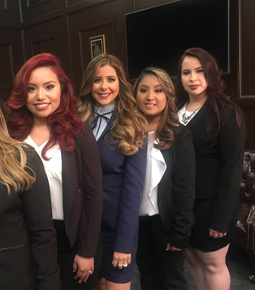 Beverly Hernández, Johanna Herrero, Vilma Mauricio y Sylvia Mejía