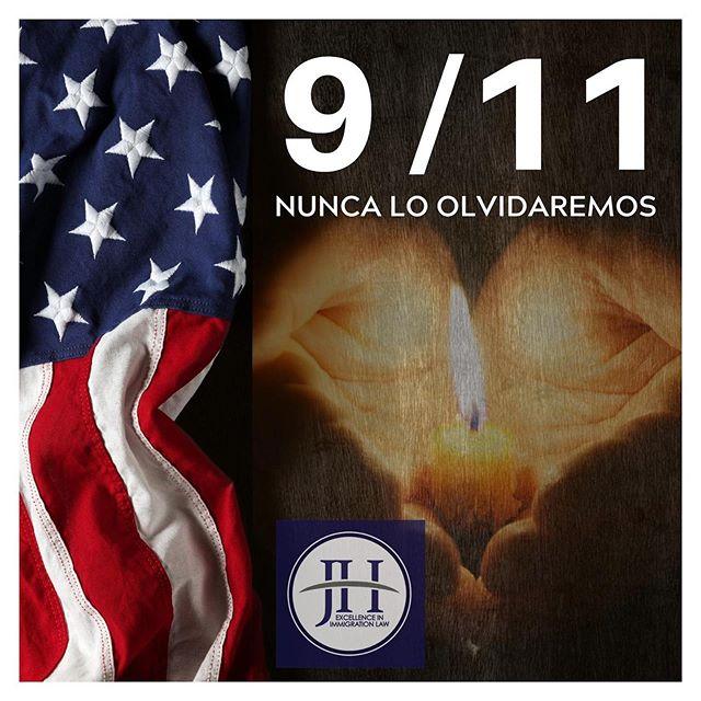 En honor a las víctimas del 9/11 que estarán siempre presente en nuestra historia y nuestros corazones. JH #abogadajohannaherrero #september #11deseptiembre