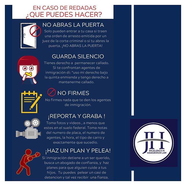 Si caes en una redada de inmigración recuerda que QUE TIENES DERECHOS! Nosotros tenemos una línea de emergencia para detenidos por ICE ☎️617-800-9130 / 617-800-9130  Si necesitas una consulta GRATIS de inmigración GRTIS, llámanos hoy: Miami 📲786-500-1200  Boston 📲 617-720-5200 📧 jh@jherrerolaw.com / 🌐 www.hcley.com . . . #argentinosenMiamiBeach #ColombianosenMiami #CubanosenMiami #VenezolanosEnMiami #MexicanosenMiami #redadasdeinmigracion #detenidosporICE #deportaciones #abogadosdeinmigracion #inmigracion #casodedeportacion ##abogadajohannaherrero #inmigracion #inmigraciónvenezolana
