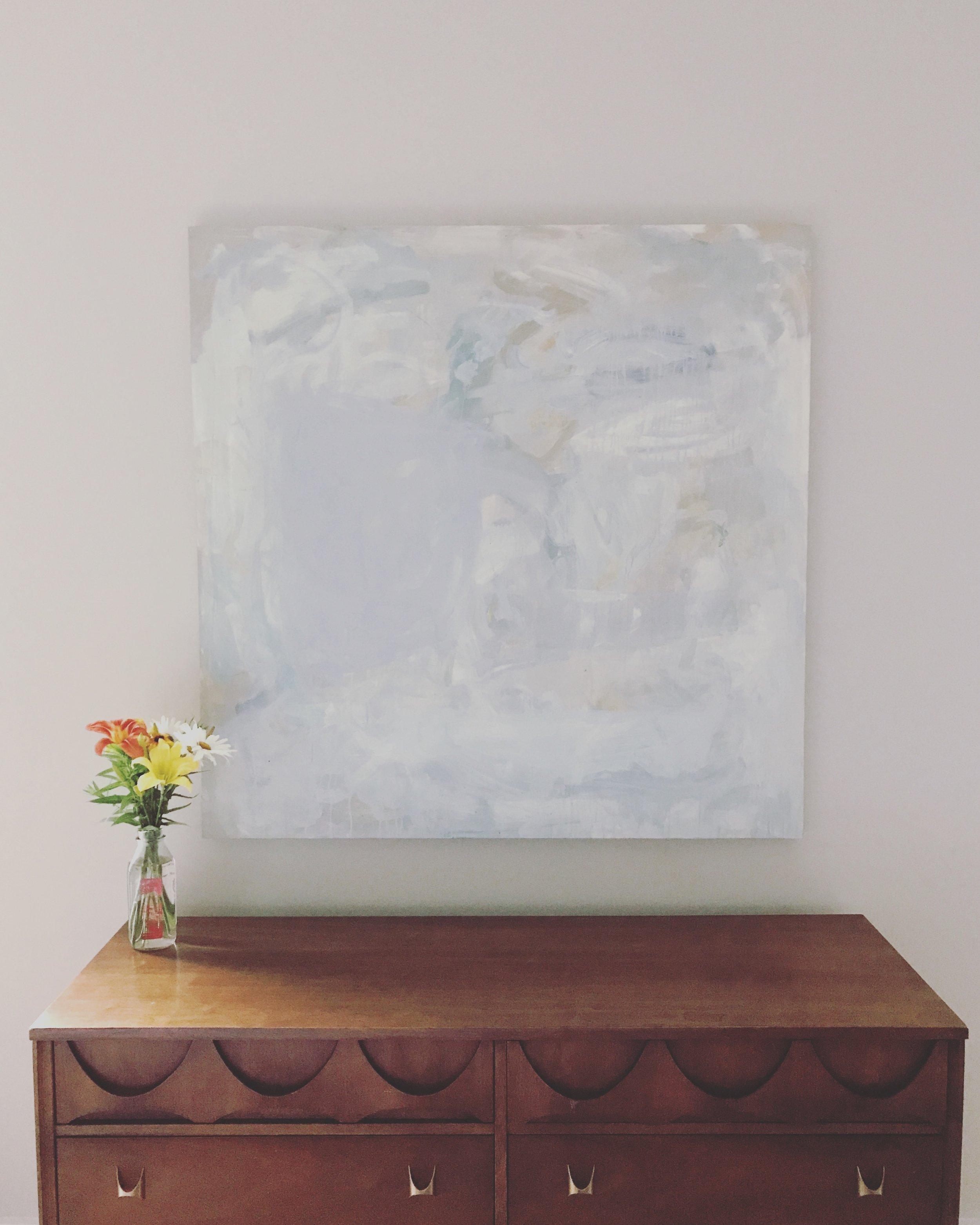 North, 121 cm x 121 cm, oil on panel