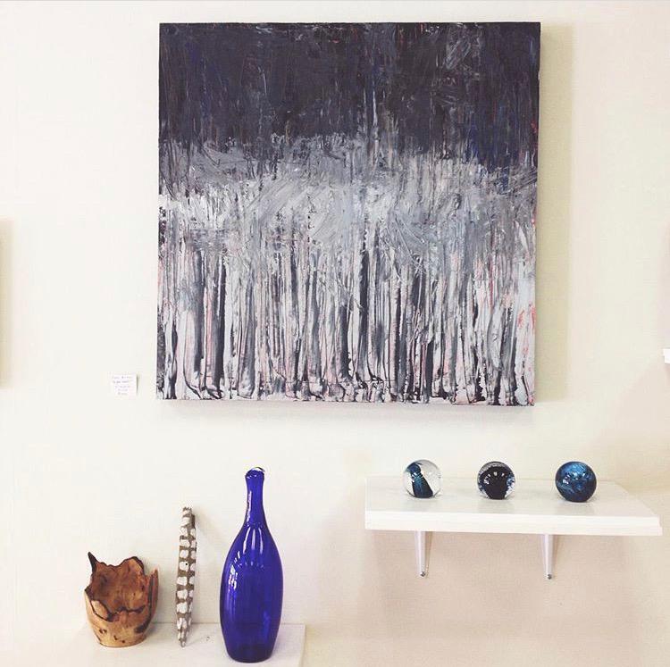 Night Woods, 60 cm x 60 cm, oil on panel