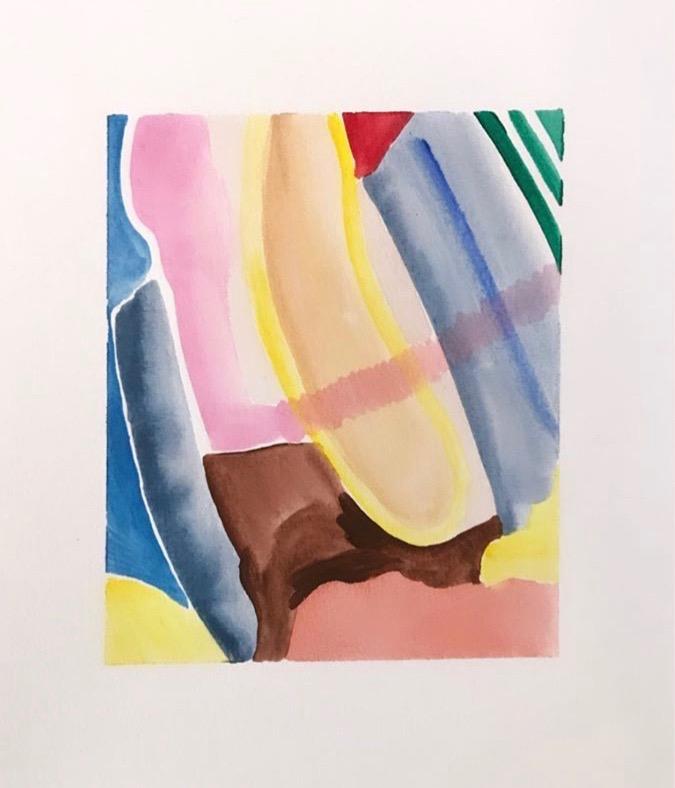 På Stranda I, 5 cm x 6 cm, watercolor on paper