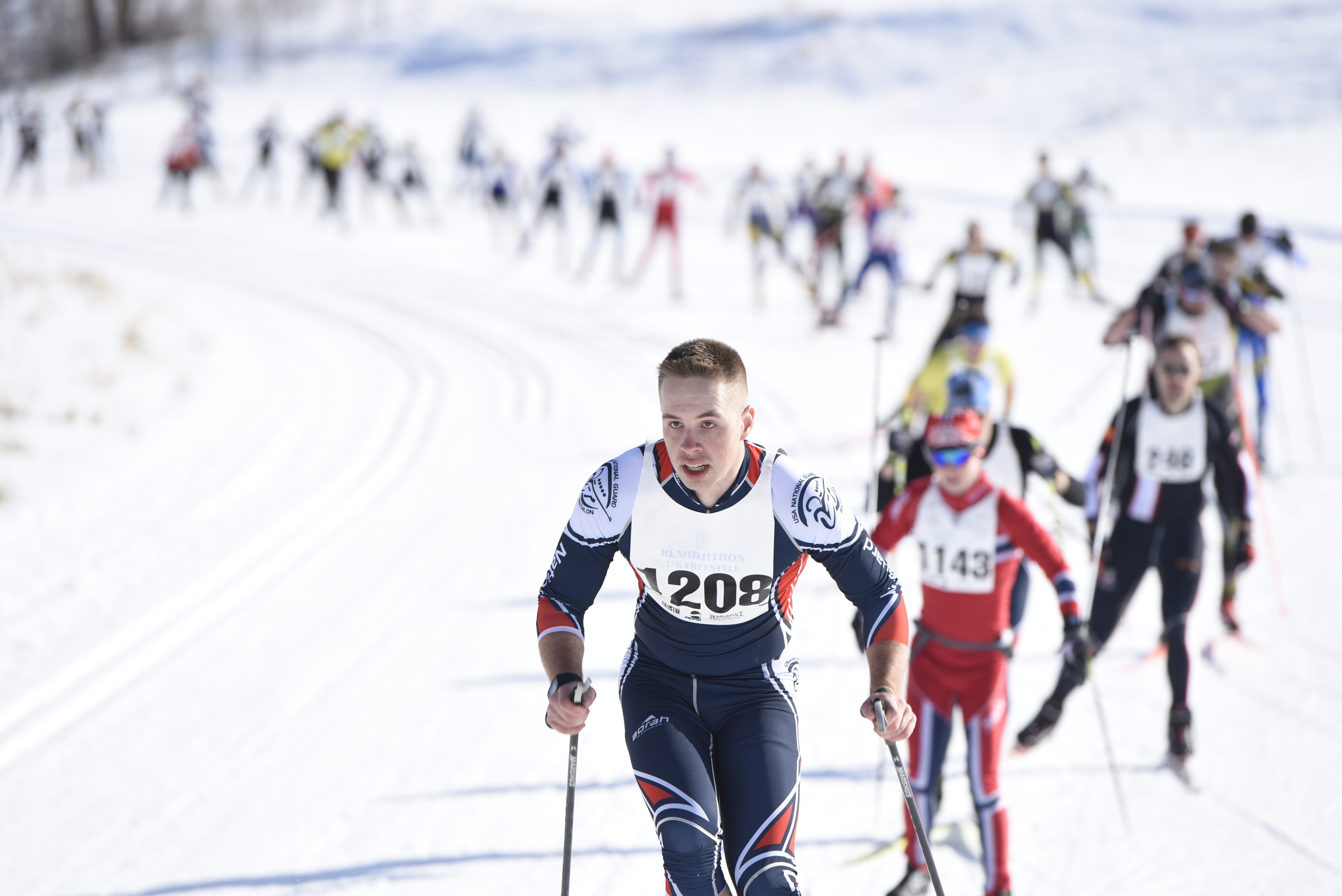 The start of the 34th annual Finlandia Ski Marathon at Buena Vista in Bemidji.