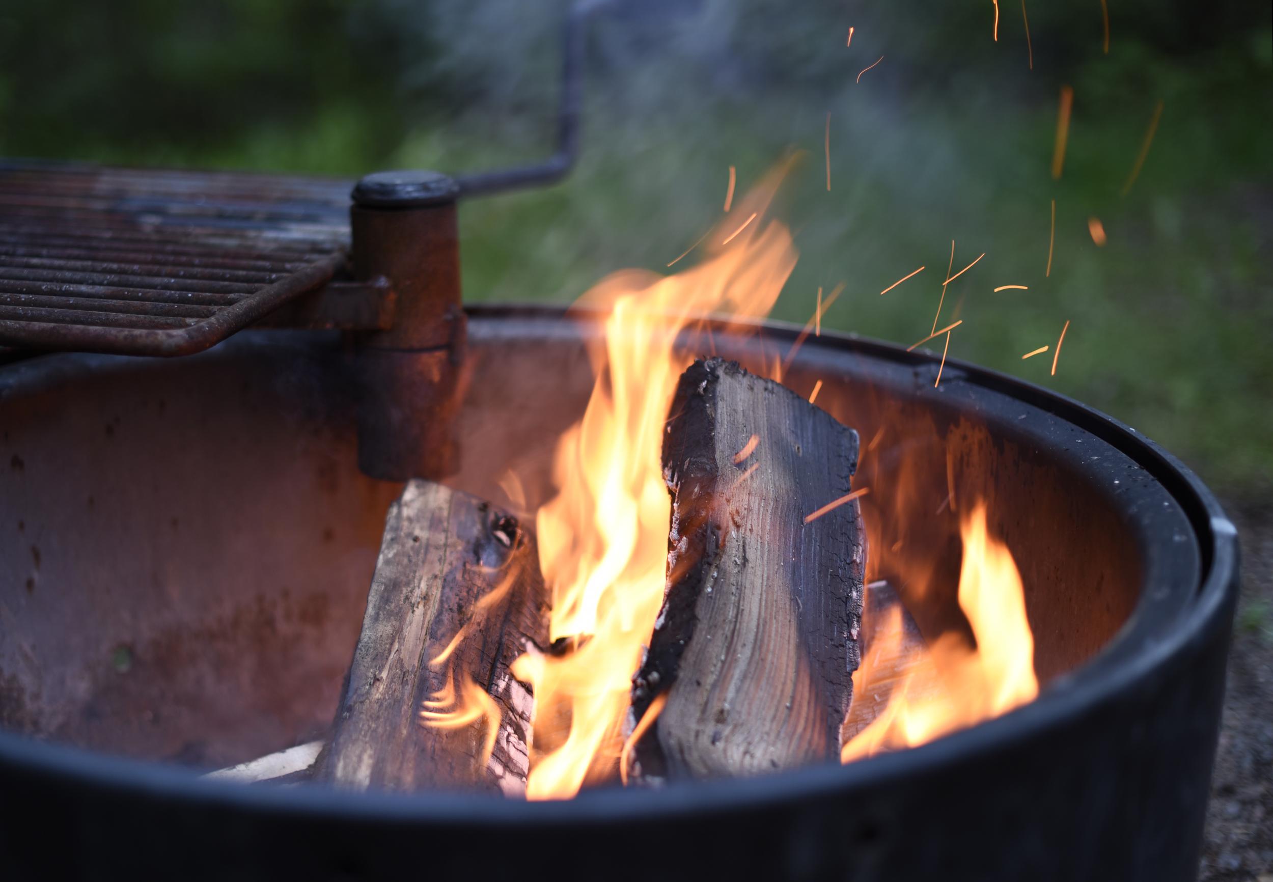 Campfire at Judge C.R. Magney State Park.