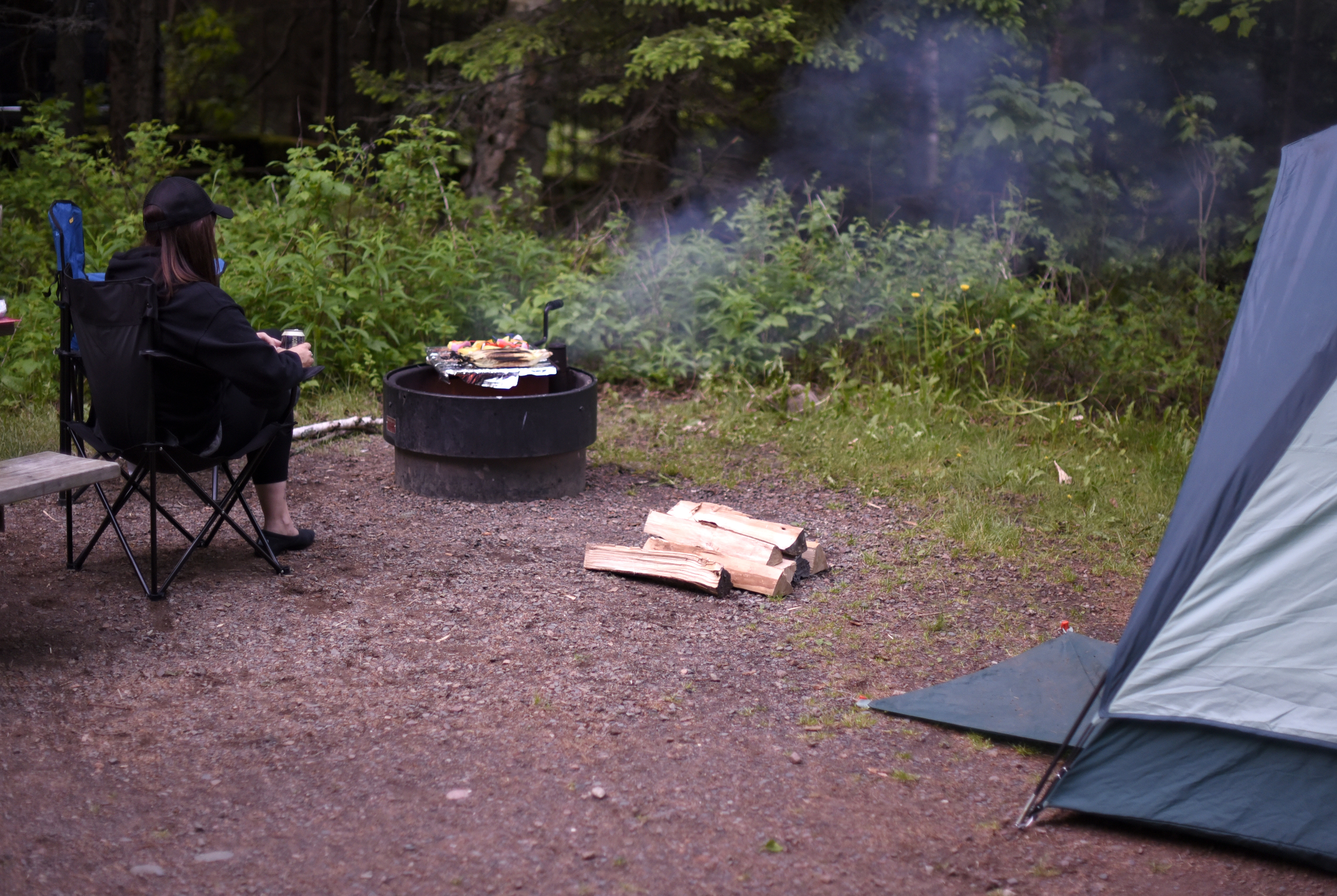 Our first night in Judge C.R. Magney State Park.