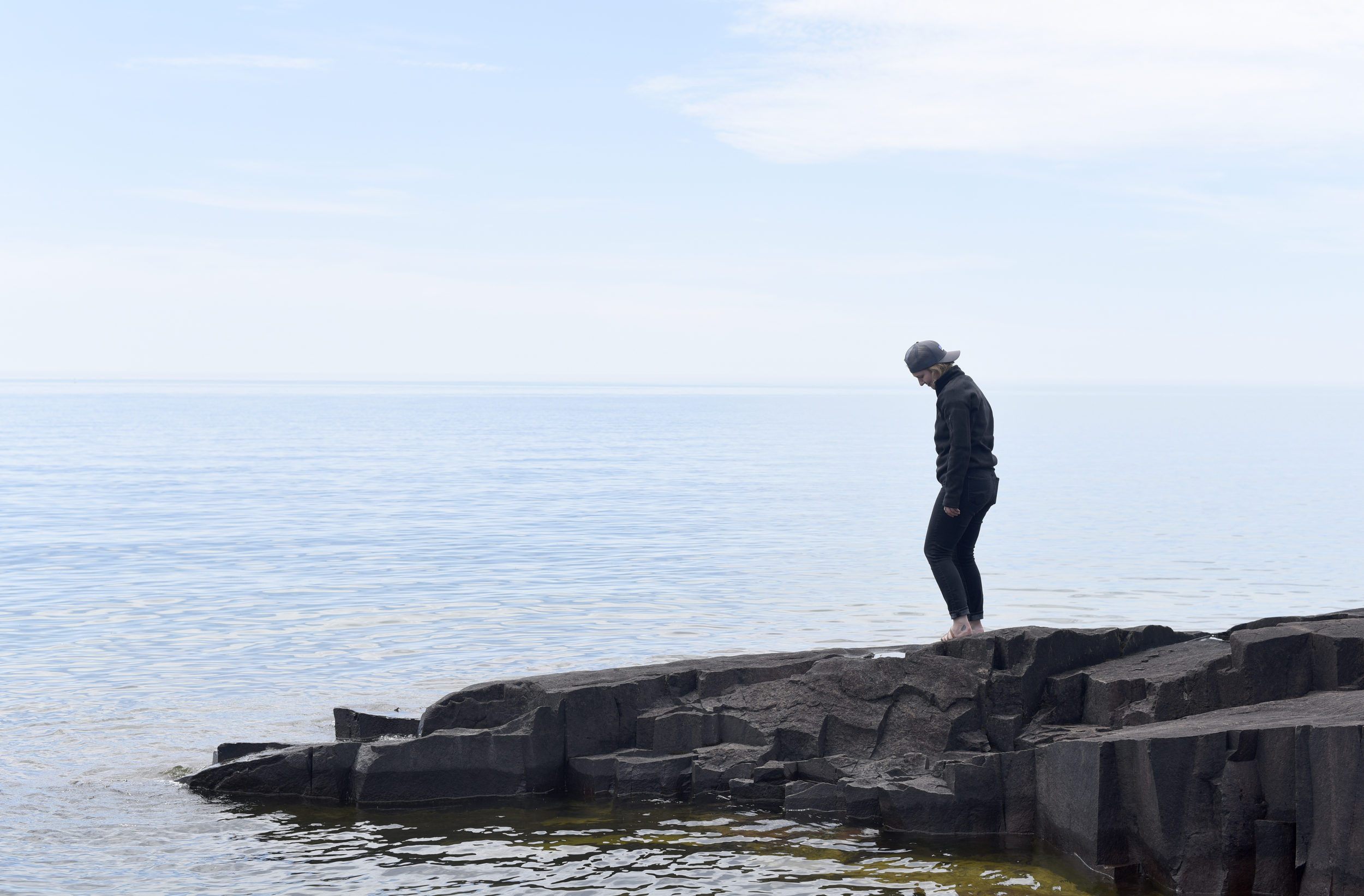 Ayla snapped this photo of me in Grand Marais, Minn.