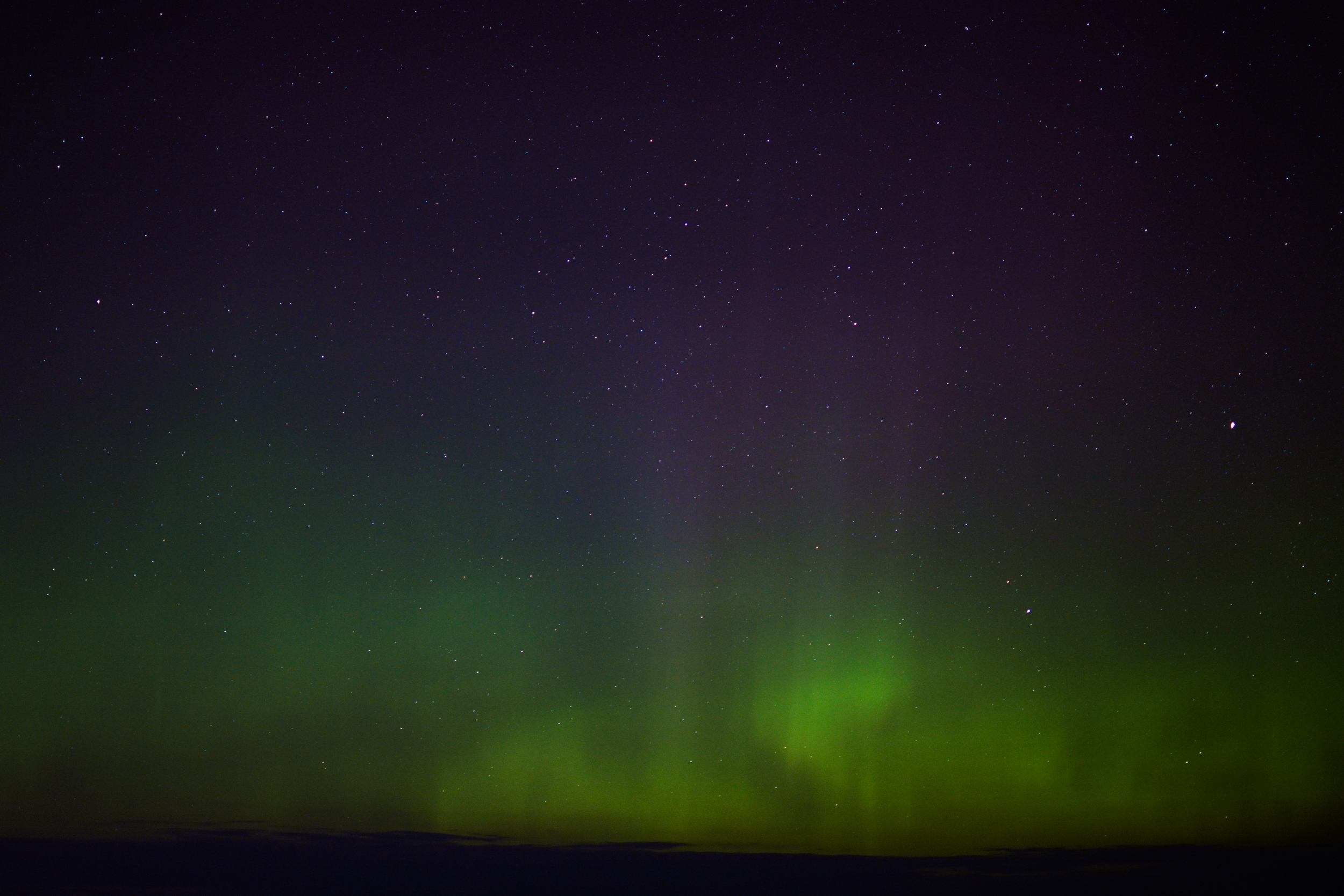 The aurora borealis over Lake Bemidji.