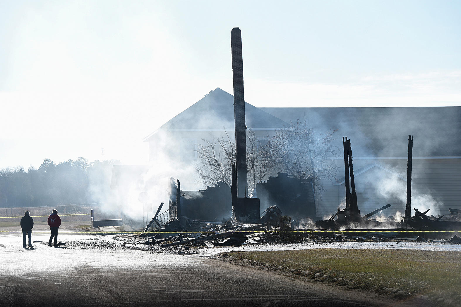 A fire destroyed the historic St. Mary's Mission Church in Red Lake in December 2017.